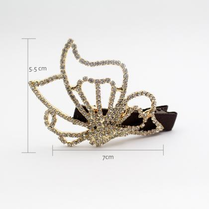 Gold butterfly hairpin