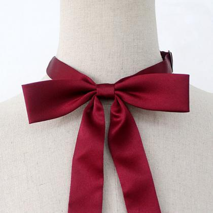 FREE SHIPPING,Wine ribbon tie,Wine ..