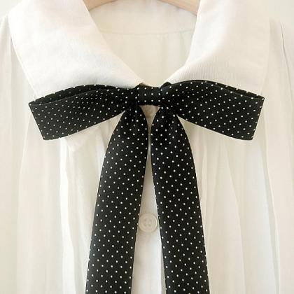 FREE SHIPPING,Dot ribbon tie,Dot ne..