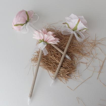 Light Pink rose Flower Pen,Wedding ..