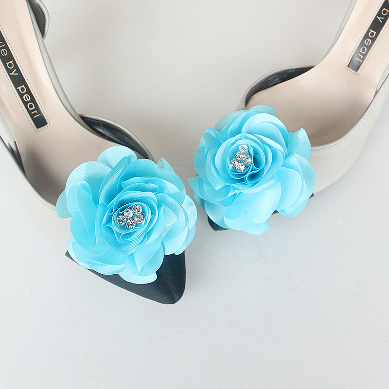 Detachable Babyblue Bridal Shoe Clips,Shoe Clips, baby blue wedding shoes,light blue wedding shoes ,Babyblue,blue wedding