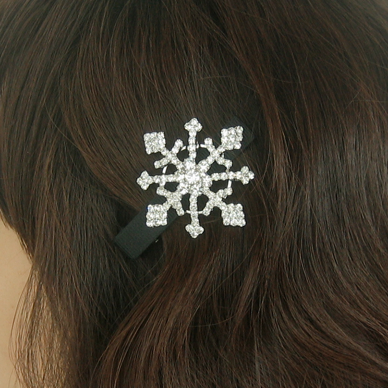 Snowflake hair clips, snow flakes, winter hair accessories ,winter wedding hair accessories, holiday wedding clips,winter hair clip
