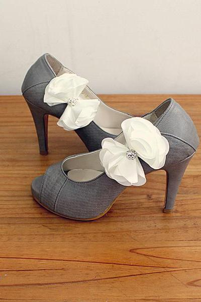 Bridal Shoe Clips,Shoe Clips,Wedding Clips, Bridal Shoe Accessories,wedding shoes corsage