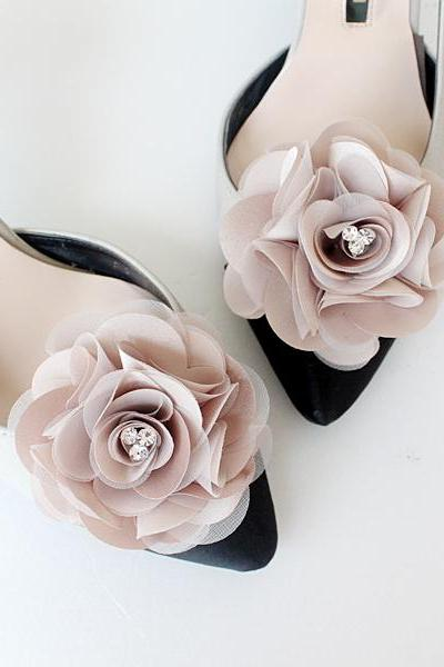 Detachable Moka Bridal Shoe Clips,Shoe Clips,Wedding Clips, Bridal Shoe Accessories,wedding shoes corsage,shoeclip,shoes clip