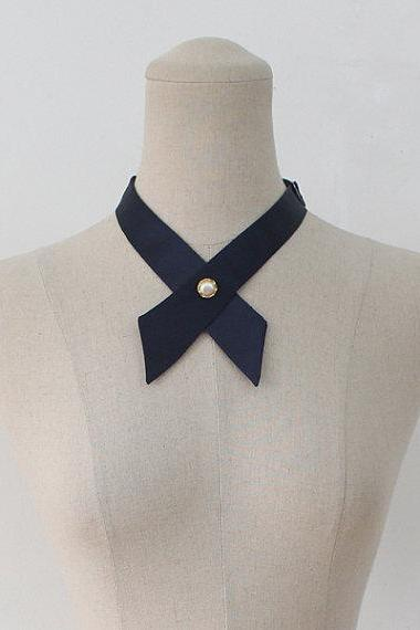 FREE SHIPPING,Navy crosstie,necktie,Navy neck tie for woman,wedding
